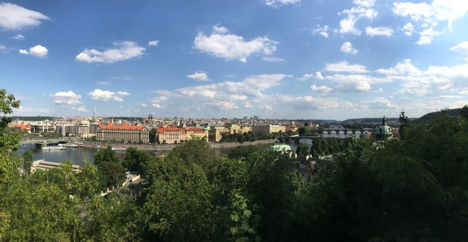 Panorama view from the Vltava River