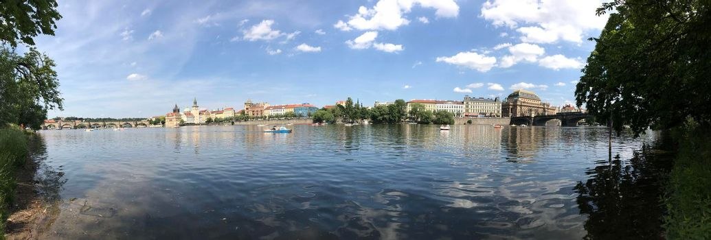 Panorama from the Vltava river