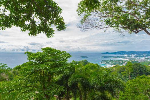 View point of Karon Beach, at Phuket Island, Thailand.