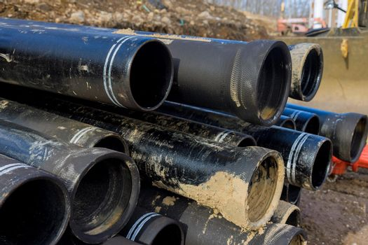 Polypropylene pipes for the water pipeline black plastic pipes.