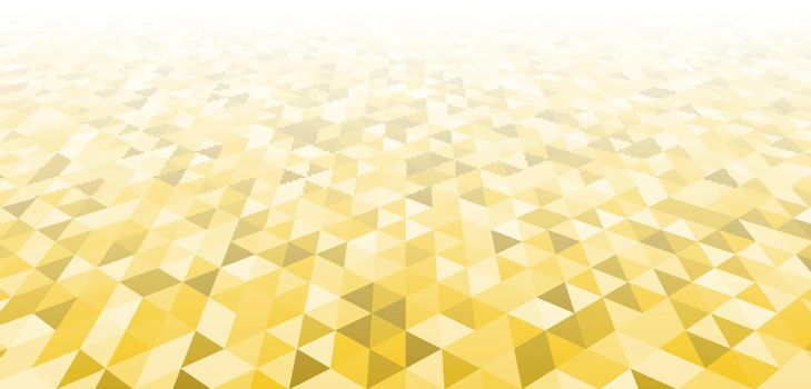 Abstract modern geometric yellow triangles pattern perspective background and texture. Vector illustration