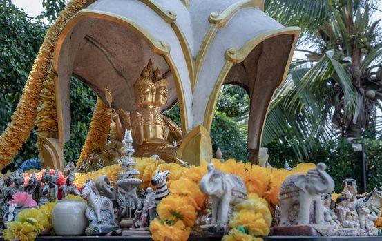 The Thao Maha Phrom Shrineis a shrine which houses a statue of Phra Phrom (Four faced god).