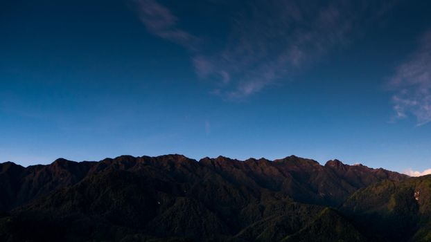 Fansipan, Fan Si Pan or Phan Xi Pang mountain the highest mountain in Indochina at Sapa , Vietnam