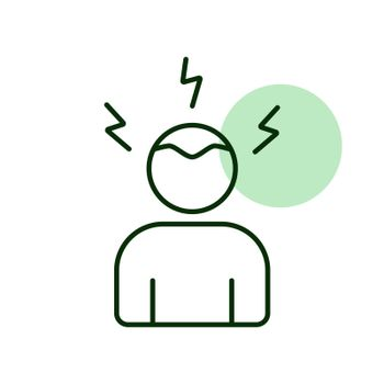 Novel Coronavirus symptoms headaches vector icon