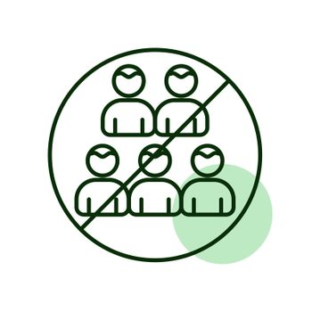 Social distancing prevention virus vector icon