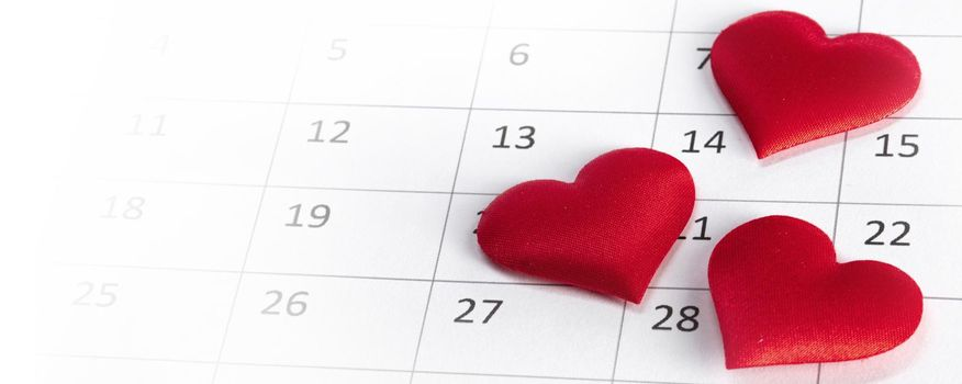 February 14 on calendar Valentines day