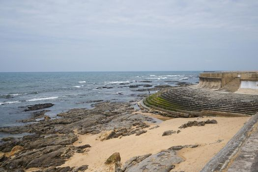 Granja beach in Arcozelo, Portugal
