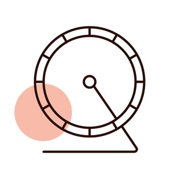 Hamster wheel vector icon. Pet animal sign. Graph symbol for pet and veterinary web site and apps design, logo, app, UI