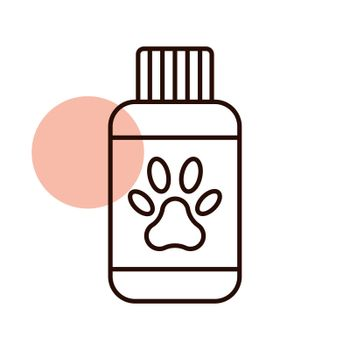 Pet shampoo vector icon. Pet animal sign. Graph symbol for pet and veterinary web site and apps design, logo, app, UI