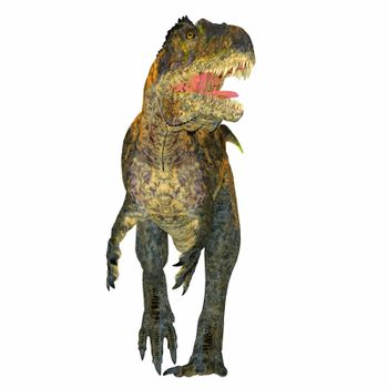 Acrocanthosaurus was a carnivorous theropod dinosaur that lived in North America during the Cretaceous Period.