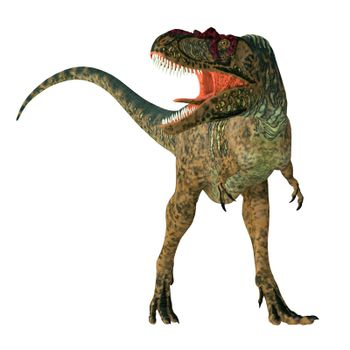 Albertosaurus was a carnivorous theropod dinosaur that lived in North America during the Cretaceous Period.