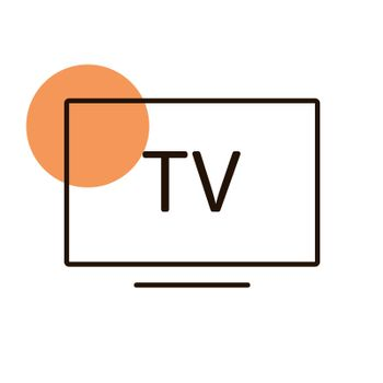 Smart TV flat vector icon. Graph symbol for household electric web site and apps design, logo, app, UI