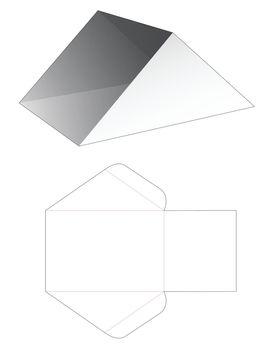 Triangular cardboard tray die cut template
