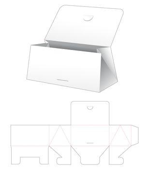 Cardboard flip triangular purse die cut template
