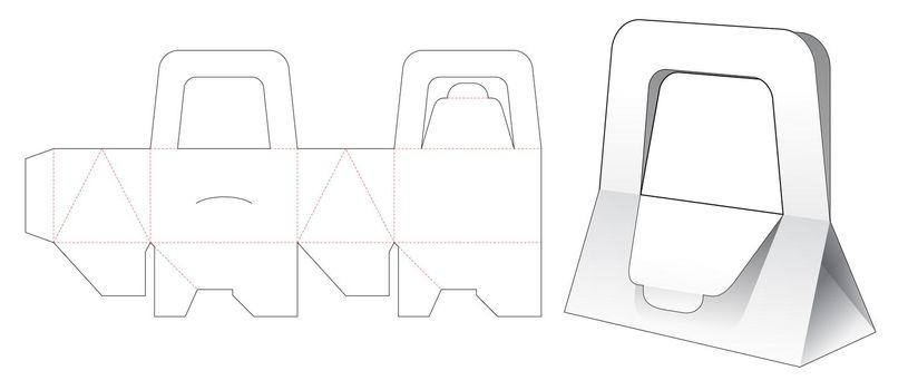 Triangular handle purse die cut template