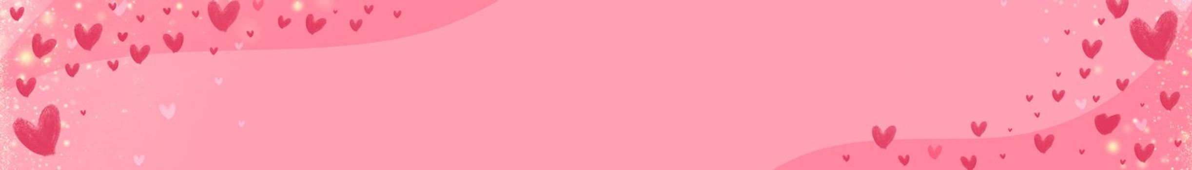 banner of heart on pink background. illustration symbols of love for Happy Women's, Mother's, Valentine's Day. banner for the site.