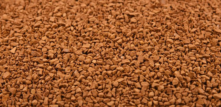 Background texture of freeze dried instant coffee