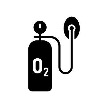 Medical oxygen cylinder vector glyph icon. Medical sign. Coronavirus. Graph symbol for medical web site and apps design, logo, app, UI