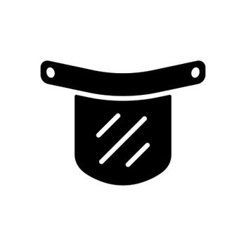 Plastic protective face shield vector glyph icon. Medical sign. Coronavirus. Graph symbol for medical web site and apps design, logo, app, UI
