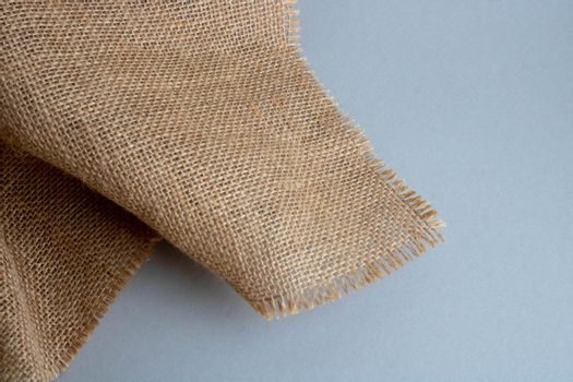 Burlap pattern, bag fabric background.Natural burlap background.