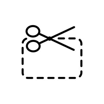 Coupon cutting vector flat icon