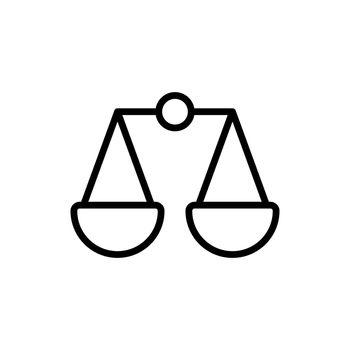 Scales vector icon. E-commerce sign