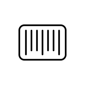 Barcode vector icon. E-commerce sign