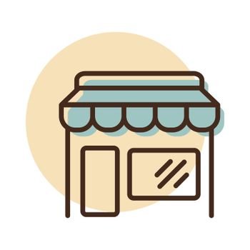 Store front isolated icon. E-commerce sign. Graph symbol for your web site design, logo, app, UI. Vector illustration, EPS10.