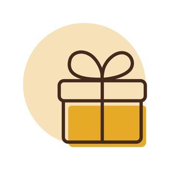 Gift vector icon. E-commerce sign