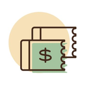 Discount coupon vector flat icon