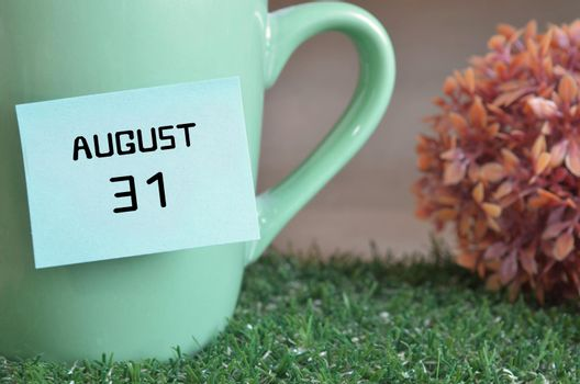 August 31.