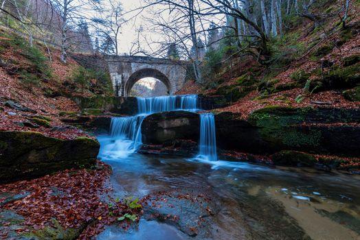 Autumn waterfalls near Sitovo.