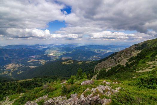 Beautiful mountains landscape in bulgaria.
