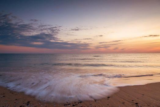 Beautiful tropical sunrise on the beach
