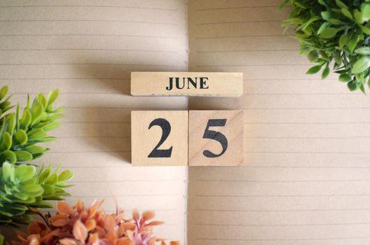 June 25.