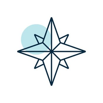 Wind rose vector icon. Navigation sign. Graph symbol for travel and tourism web site and apps design, logo, app, UI