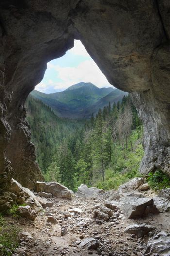 A cave called the Mylna in Poland