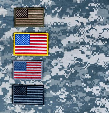 Variety of US flags for the holidays of Memorial, 4th of July and Veterans Day