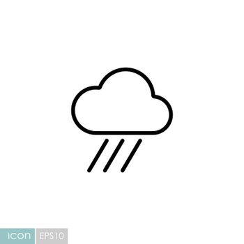 Raincloud vector icon. Meteorology sign. Graph symbol for travel, tourism and weather web site and apps design, logo, app, UI