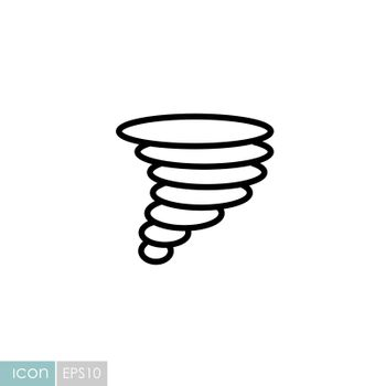 Tornado vector icon. Whirlwind storm sign. Meteorology sign. Graph symbol for travel, tourism and weather web site and apps design, logo, app, UI
