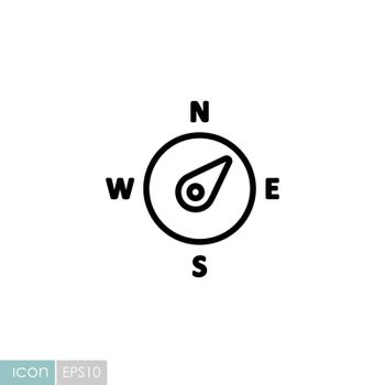 Compass wind rose vector icon. Direction northeast. Meteorology sign. Graph symbol for travel, tourism and weather web site and design, logo, app, UI