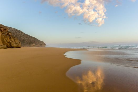 sunset on a infinity beach. vacation vitality healthy living concept, Australia