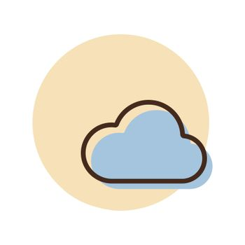 Cloud vector icon. Weather sign
