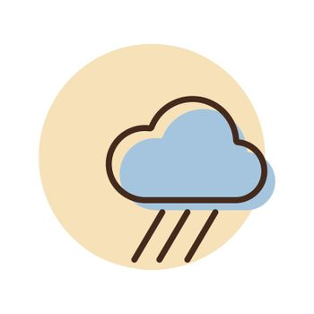 Raincloud vector icon. Weather sign