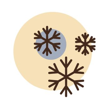 Snowflakes vector icon. Weather sign