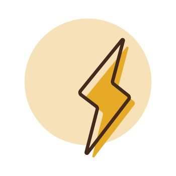 Lightning vector icon. Weather sign
