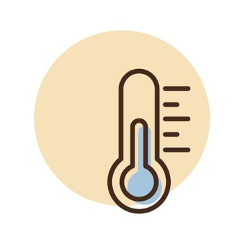 Thermometer heat vector icon. Weather sign
