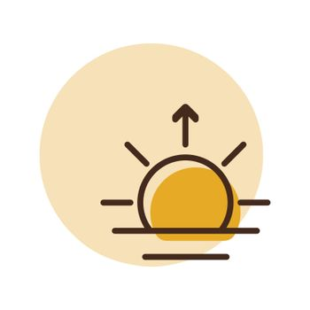 Sunrise vector icon. Weather sign