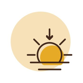 Sunset vector icon. Weather sign