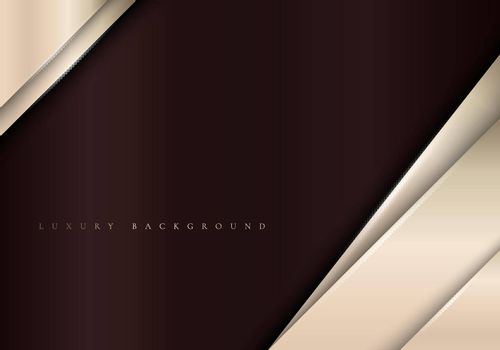 Elegant metallic template background with diagonal golden stripes luxury style. Vector illustration